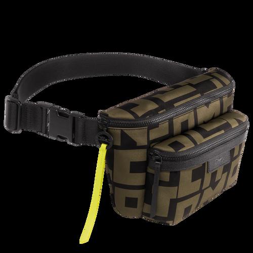 Belt bag L, Black/Khaki, hi-res - View 2 of 2