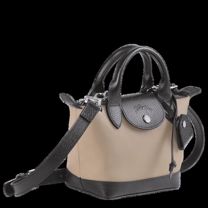 Top handle bag XS Le Pliage Cuir Greige (L1500HVA484) | Longchamp US