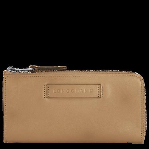 Longchamp 3D Lange portefeuille met rits rondom, ijn