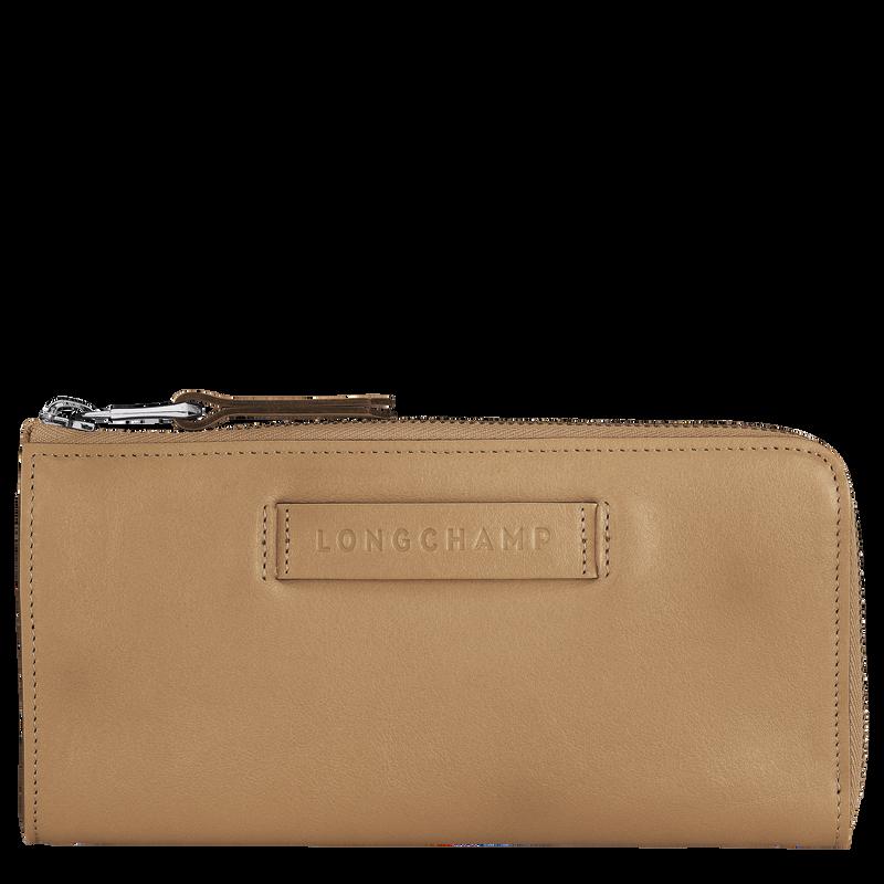 Longchamp 3D Long wallet with zip around, Cumin