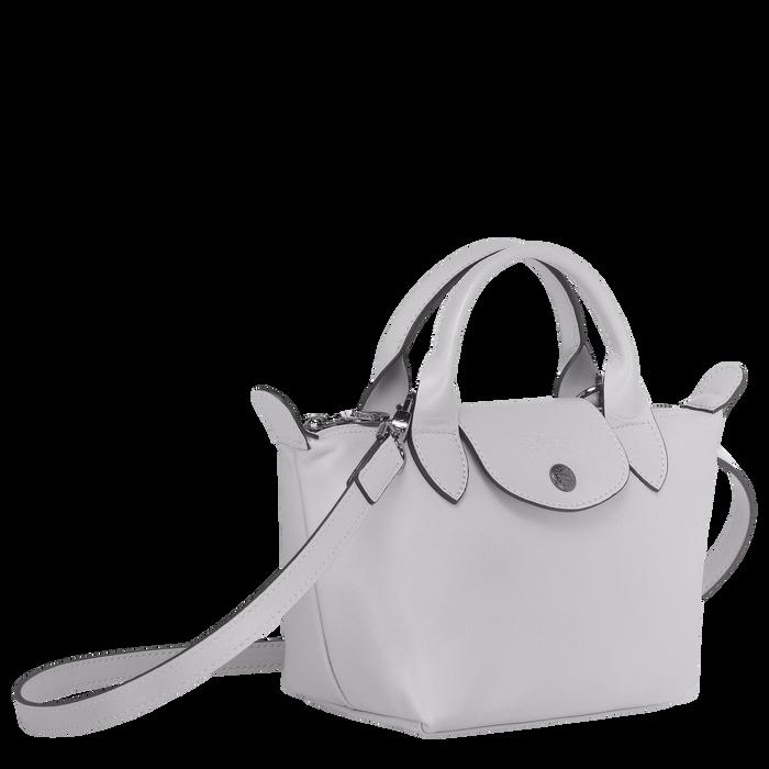 Le Pliage Cuir Top handle bag XS, Grey