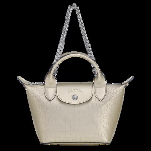 View 1 of Mini top-handle bag, Platinum, hi-res