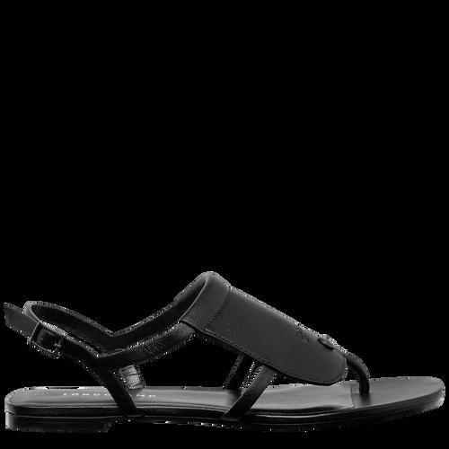 Flat sandals, Black/Ebony - View 1 of  3 -