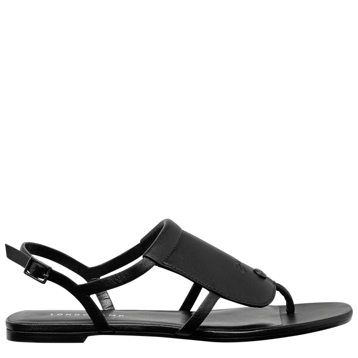 Flat sandals, Black/Ebony - View 1 of  3 - zoom in