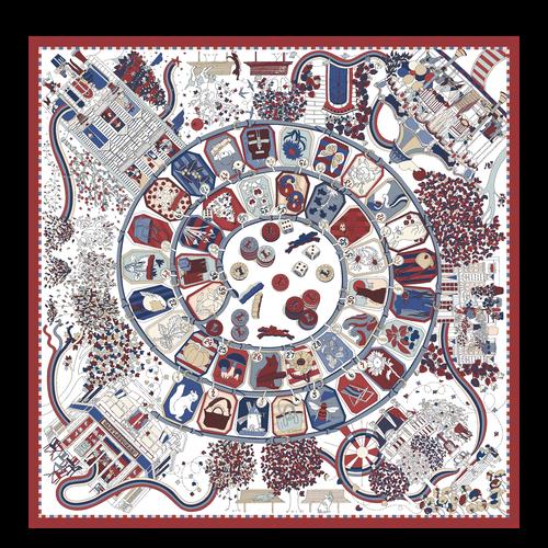 Fall-Winter 2021 Collection Silk scarf, Mahogany