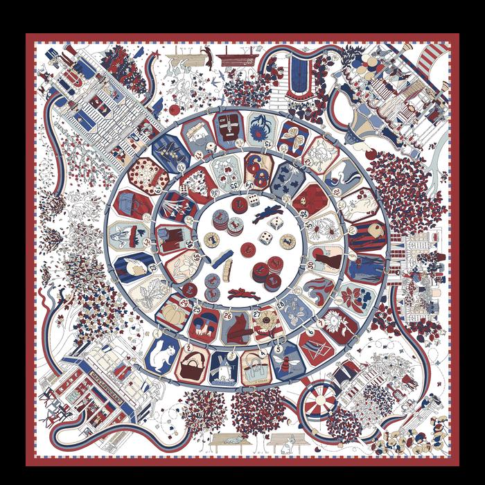 Colección otoño-invierno 2021 Pañuelo de seda, Caoba