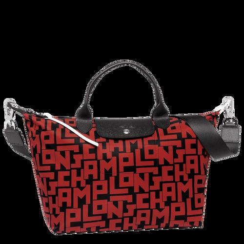 Handtasche, C09 Schwarz/Ziegelrot, hi-res