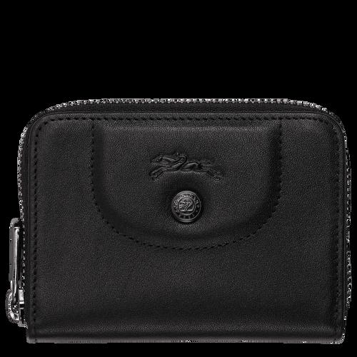Porte-cartes zippé, Noir/Ebène - Vue 1 de 2 -