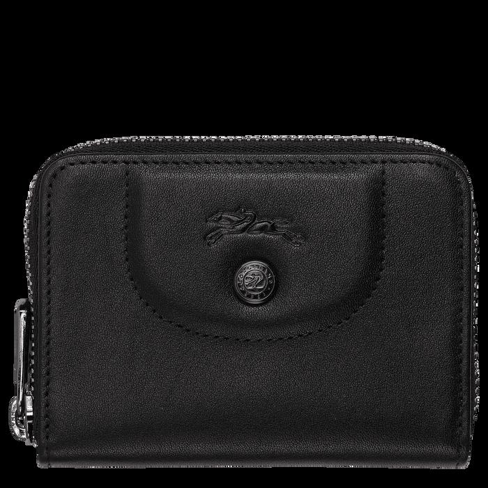 Porte-cartes zippé, Noir/Ebène - Vue 1 de 2 - agrandir le zoom