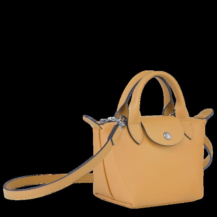 Tas met handgreep aan de bovenkant XS, Honing - Weergave 2 van  6 - Meer inzoomen.