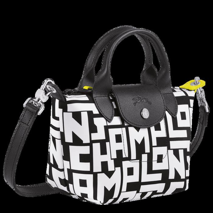 Le Pliage LGP Top handle bag XS, Black/White