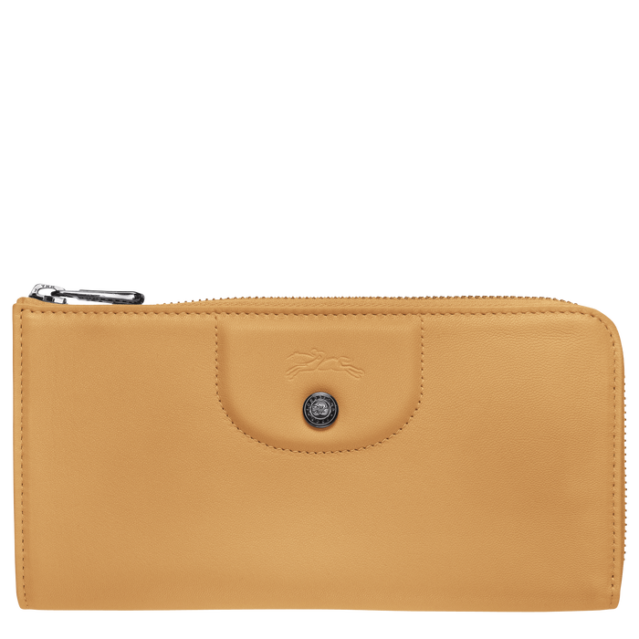 Le Pliage Cuir Lange portefeuille met rits rondom, Honing