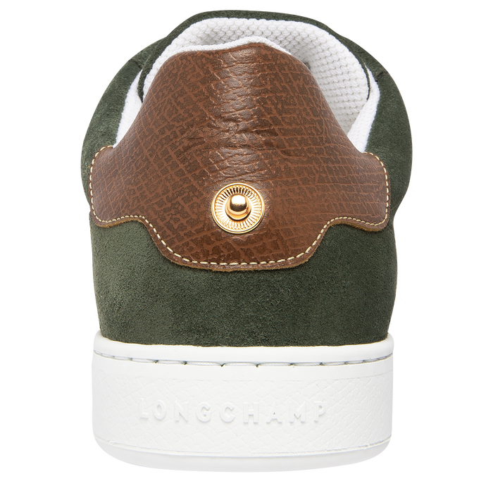 Sneakers, Vert Longchamp - Vue 3 de 5 - agrandir le zoom
