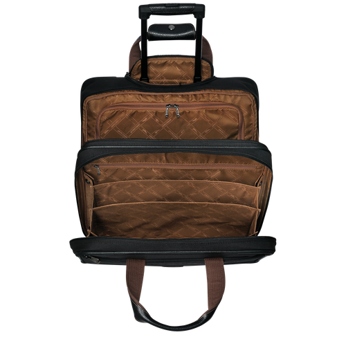 View 3 of Wheeled suitcase, Black, hi-res