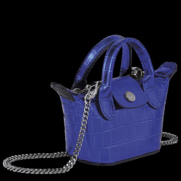 Le Pliage Cuir Sac porté travers XS, Bleu