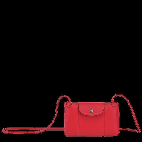 Sac porté travers Le Pliage Cuir Rouge (L1061757545) | Longchamp FR