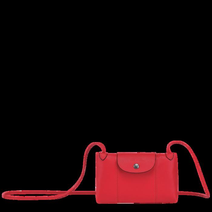 Le Pliage Cuir Crossbody bag, Red