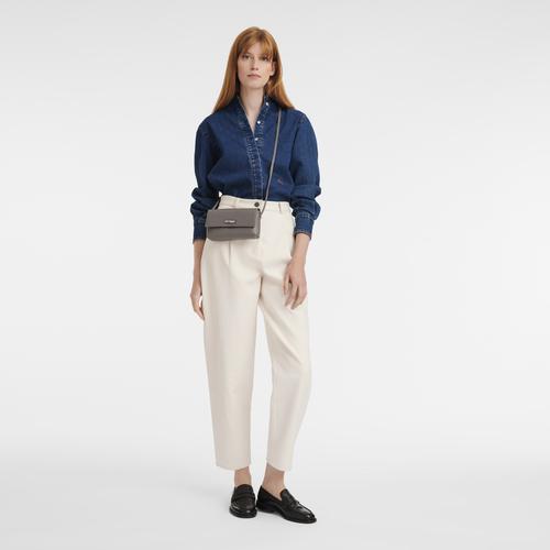 Pouch Roseau Grey (34067968112) | Longchamp US