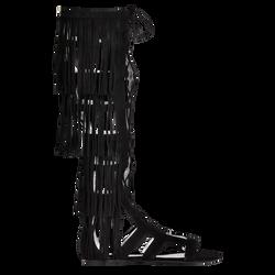 Flat sandals, 001 Black, hi-res
