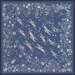 Silk Scarf, 729 Pilot blue, hi-res