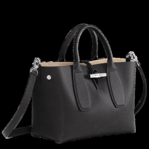View 3 of Top handle bag M, Black, hi-res