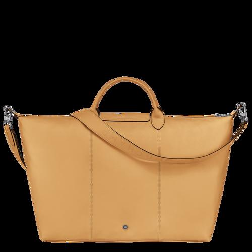 Le Pliage Cuir Travel bag L, Honey