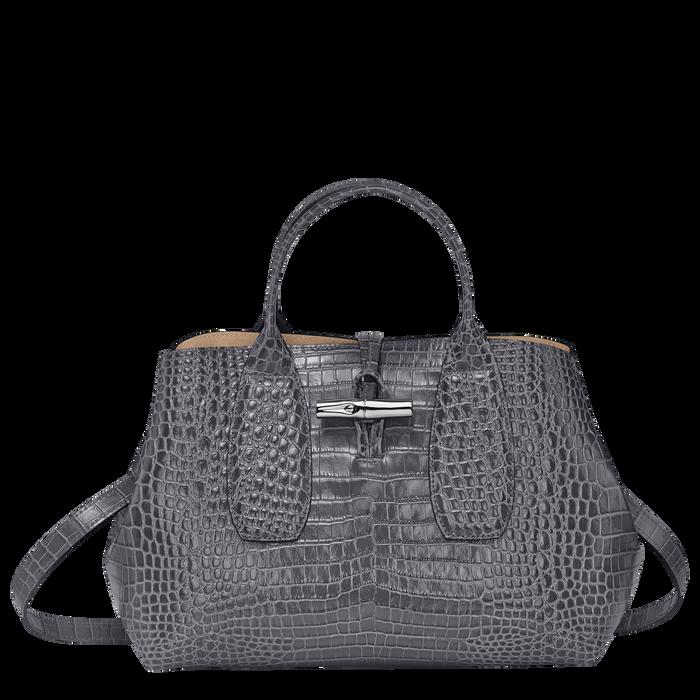 Roseau Top handle bag M, Gun metal