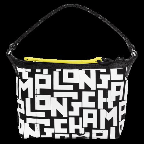 Colección Le Pliage Clutch, Negro/Blanco