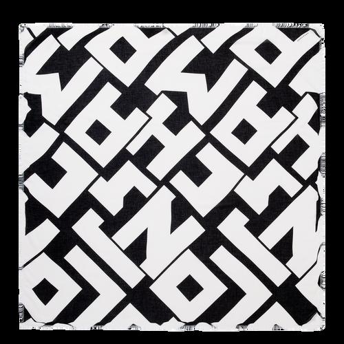 Vue 1 de Châle, Noir/Blanc, hi-res