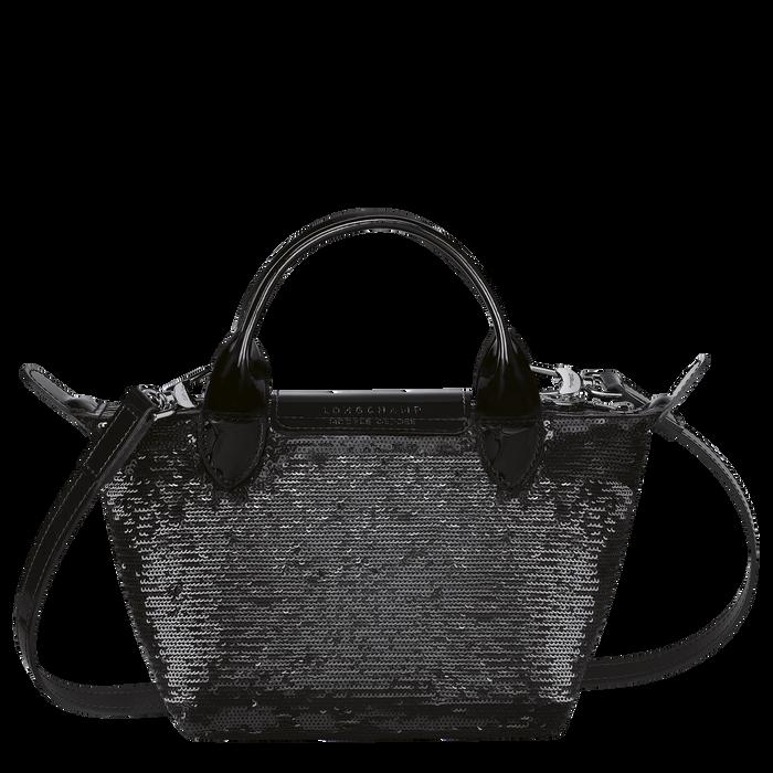 Tas met handgreep aan de bovenkant XS, Zwart/Ebbenhout - Weergave 3 van  3 - Meer inzoomen.