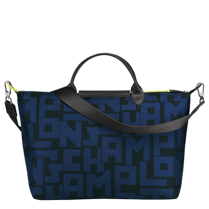 Top handle bag L, Black/Navy - View 3 of 4 - zoom in