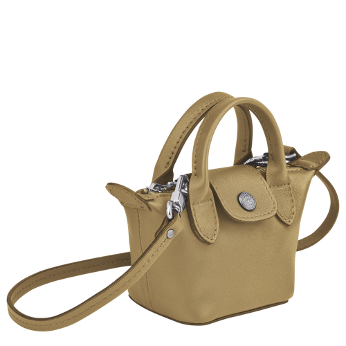 Crossbody bag XS Le Pliage Cuir Khaki (10099757892) | Longchamp US