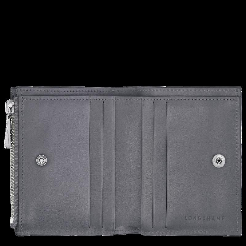 Roseau Compact wallet, Gun metal