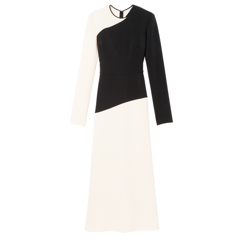 Fall-Winter 2021 Collection Long Dress, Ivory/Black