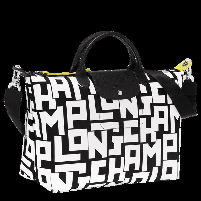 Le Pliage LGP Top handle bag L, Black/White
