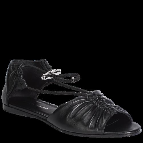View 2 of Flat sandals, Black, hi-res