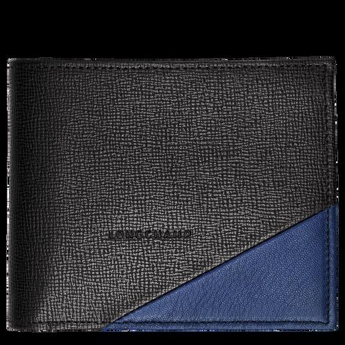 Portefeuille, 731 Noir/Bleu, hi-res