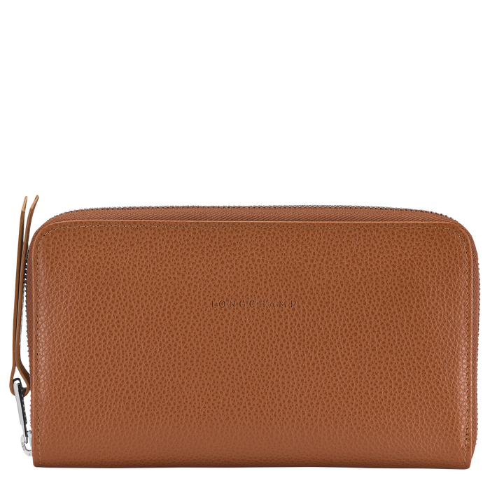 Long zip around wallet, Caramel, hi-res - View 1 of 2