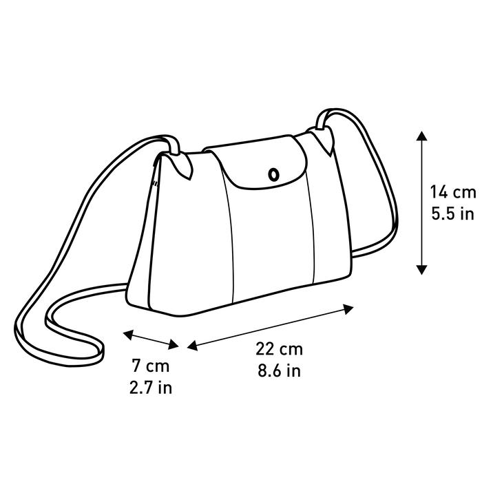 Crossbody bag, Black/Ebony - View 5 of  5 - zoom in