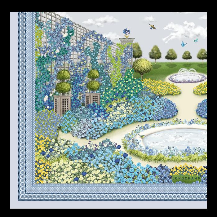 2021 秋冬系列 絲質圍巾, 機師藍色
