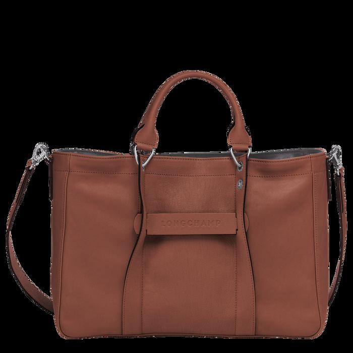 Longchamp 3D Sac porté main M, Cognac