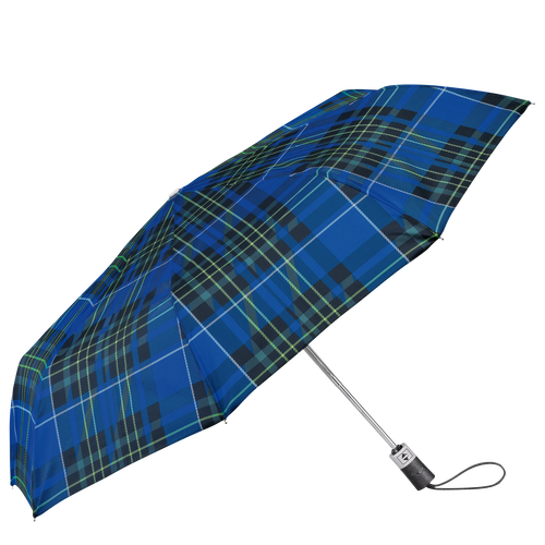 Parapluie mat rétractable, Bleu - Vue 1 de 1 -