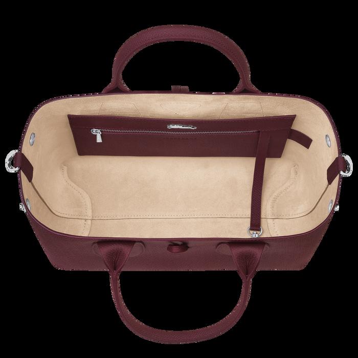 Roseau Top handle bag M, Burgundy