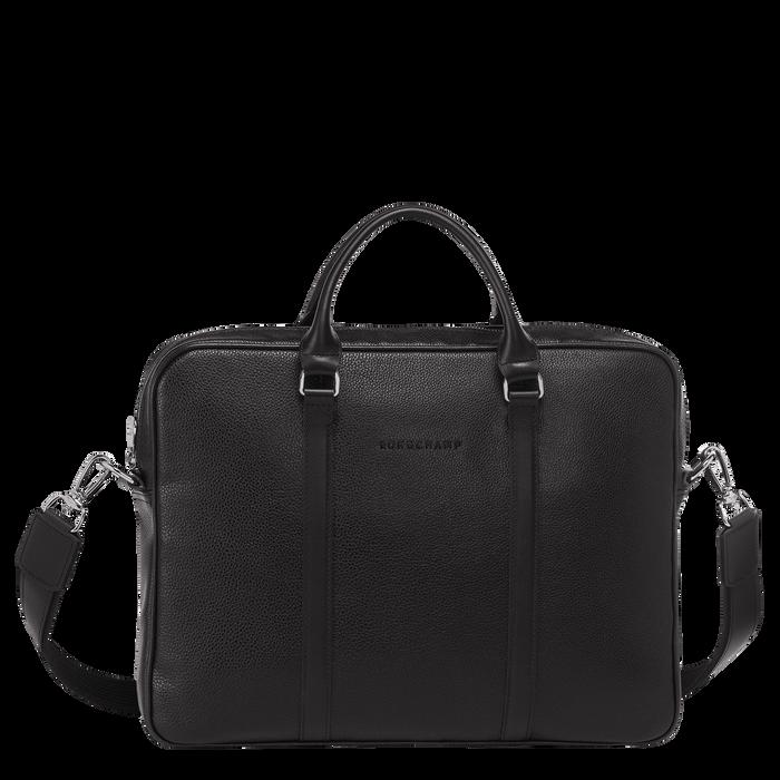 Le Foulonné Briefcase XS, Black