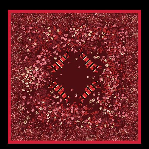 Vue 1 de Carré de soie, Rouge, hi-res