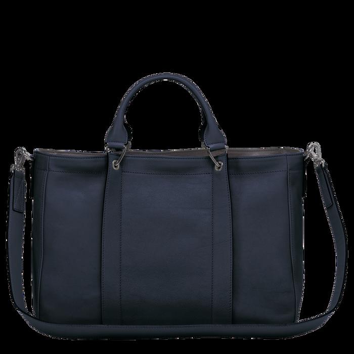 Longchamp 3D 탑 핸들백 M, 미드나잇 블루