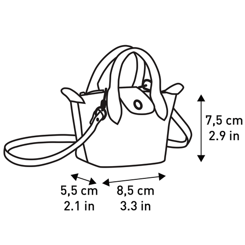 Le Pliage Cuir Crossbody bag XS, Navy