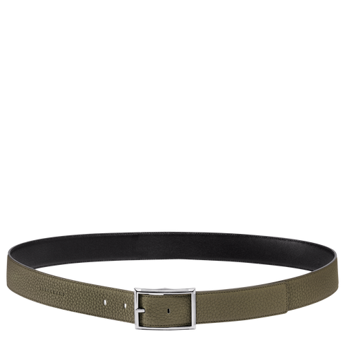 View 1 of Men's belt, 401 Khaki/Black, hi-res
