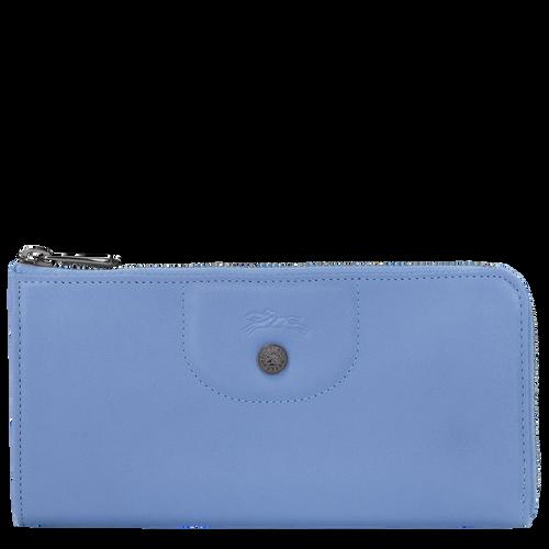 Portefeuille long zippé, Bleu, hi-res - Vue 1 de 2