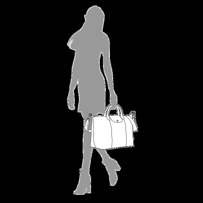 Le Pliage Cuir Sac porté main L, Rose Pâle